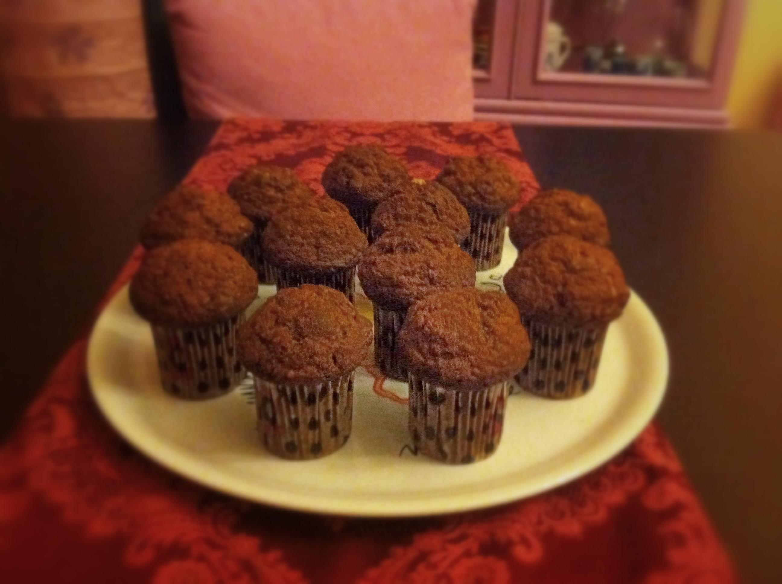Muffin banane e noci